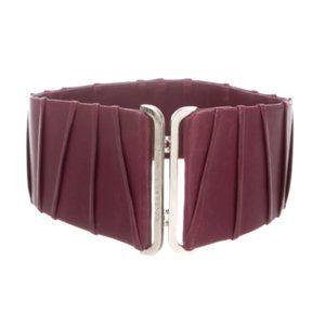 OSCAR DE LA RENTA Leather Waist Corset Belt